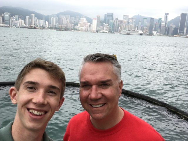 Arrival in Hong Kong
